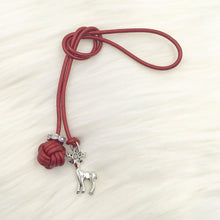 Limited Edition Monkey Fist Knot Bookmark with Silver Rudolph