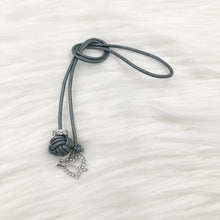 Monkey Fist Knot Leather Bookmark with Silver Rhinestone Heart and Arrow Charm