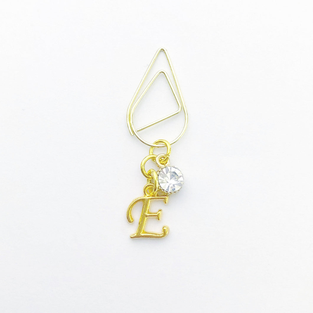 Planner Clips - Gold Initial Edition