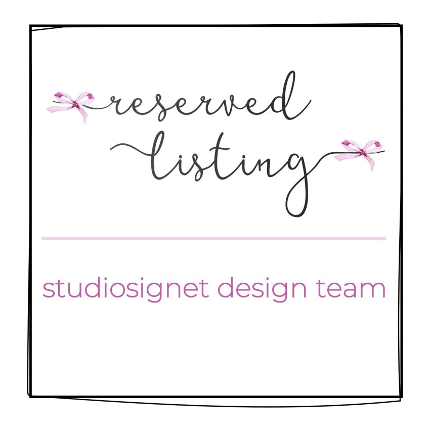 Reserved Listing for Design Team