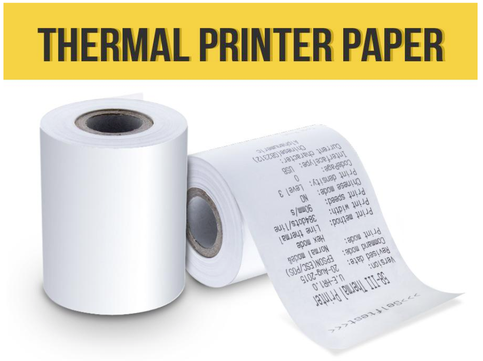 4 Rolls (16 set) High Quality 57x50 mm Thermal Paper for Receipt Printers-  Cordya (White)