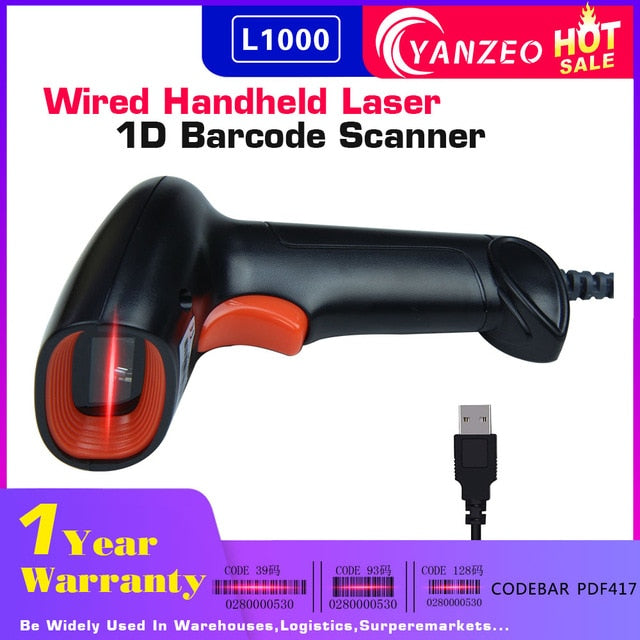 Yanzeo Portable USB Handheld Wired Wirelress Barcode Scanner Bluetooth  1D/2D QR Bar Code Reader PDF417 IOS Android IPAD