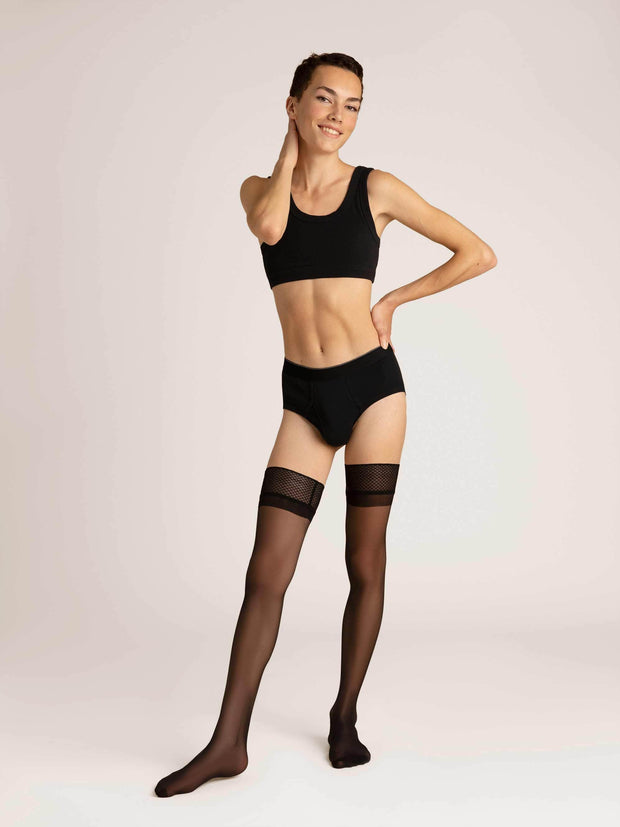 Ultrasheer Thigh Highs X-Small / Single / Black - Sheertex