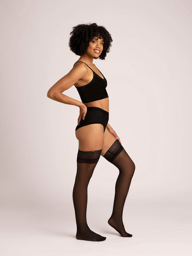 Ultrasheer Thigh Highs Small / Single / Black - Sheertex