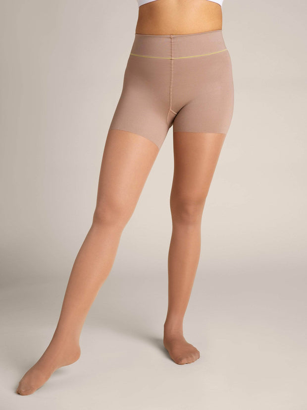 Nude Shaping Sheer Tights - Sheertex
