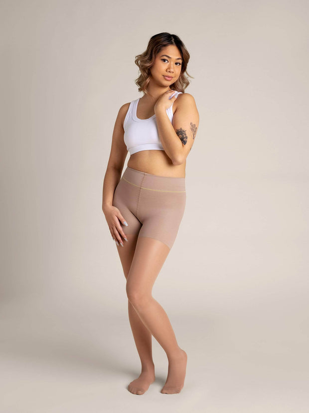 Nude Shaping Sheer Tights X-Small / N04 - Light Medium: best for neutral: golden: and olive undertones / Single - Sheertex