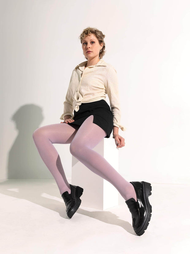 Color Pop Luxury Semi-Sheer Tights X-Small / Lilac / Single - Sheertex