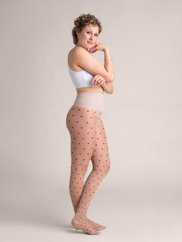 Nude Polka-Dot Sheer Tights X-Small / N02 - Light: best for neutral and rosy undertones / Single - Sheertex