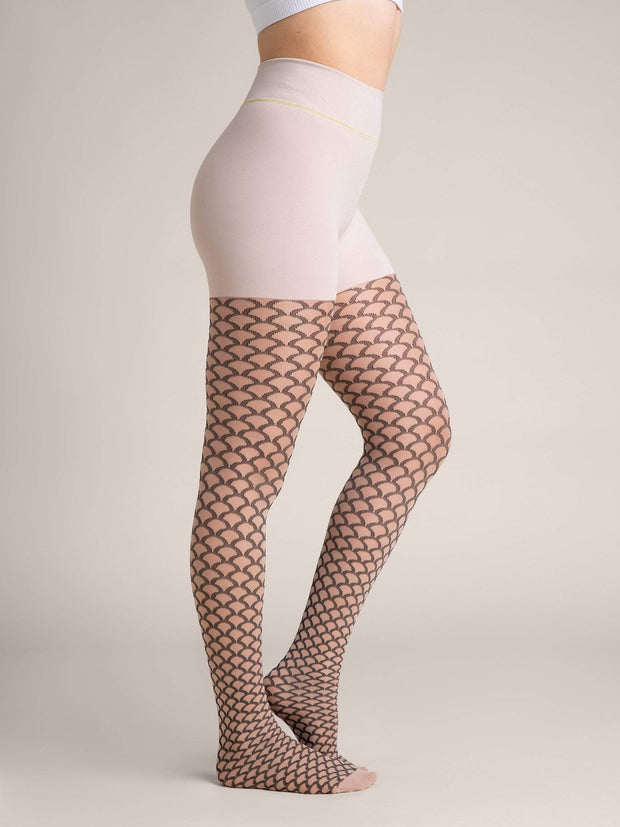 Mermaid Nude Shaping Sheer Tights - Sheertex