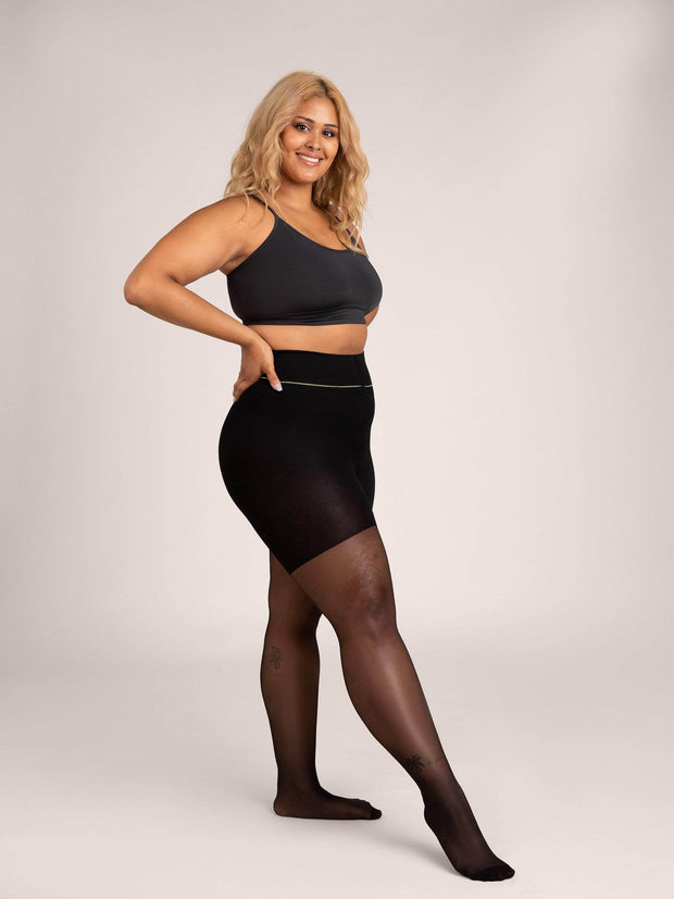 Shaping Ultrasheer Tights 2X-Large / Single / Black - Sheertex