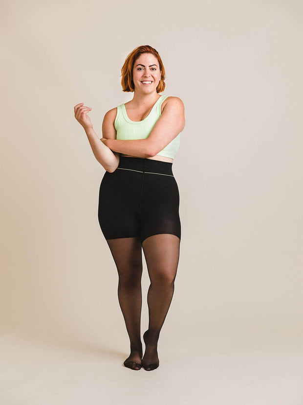Shaping Ultrasheer Tights X-Large / Single / Black - Sheertex