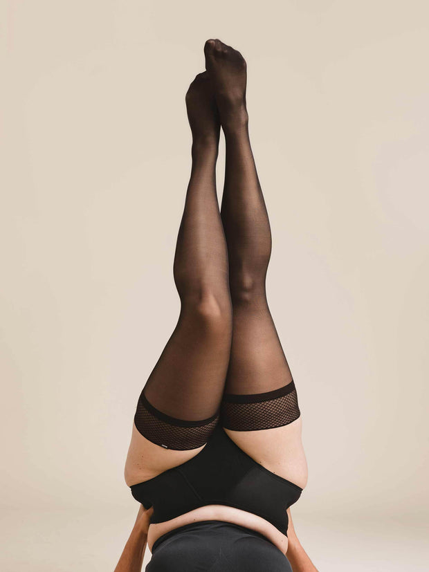 Ultrasheer Thigh Highs X-Large / Single / Black - Sheertex