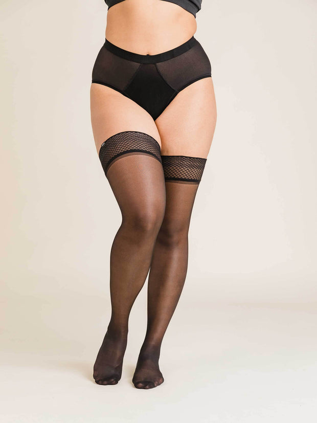 Ultrasheer Thigh Highs Large / Single / Black - Sheertex