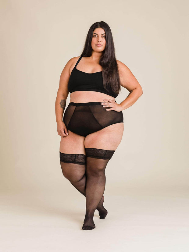 Ultrasheer Thigh Highs 3X-Large / Single / Black - Sheertex