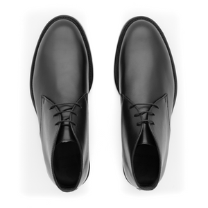 Elite Leather Desert Boots | Black