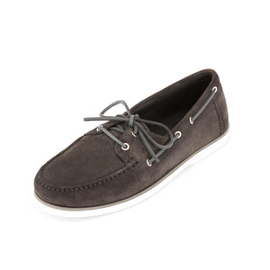 Dynamic Suede Boat Shoes | Dark Grey