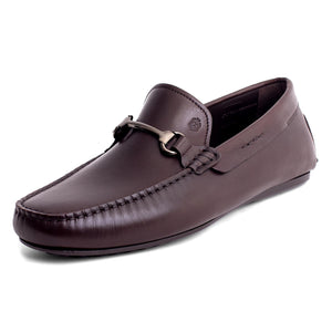 Men Leather Moccasin Brown Loafer Mengloria