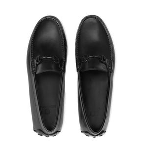 Bold Leather Moccasin | Matt Black