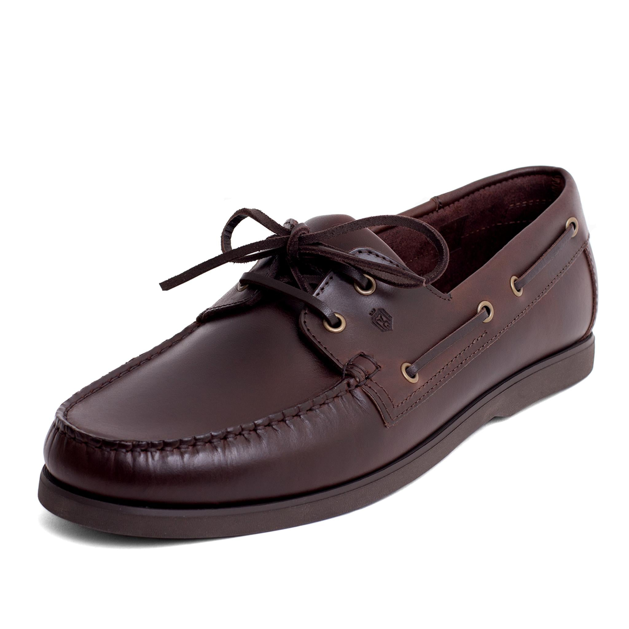 Dynamic Leather Boat Shoes | Dark Brown
