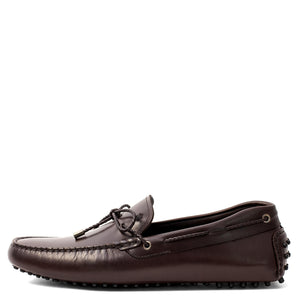 Men Leather Driver Dark Brown Loafer Mengloria