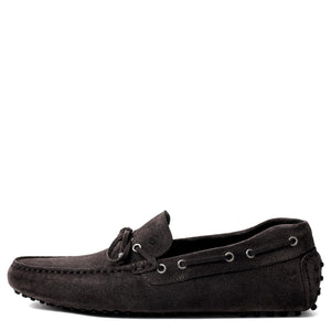 Men Suede Driver Grey Loafer Mengloria