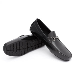Bold Leather Moccasin | Black