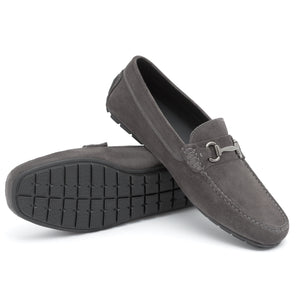 Vigour Suede Moccasin | Grey