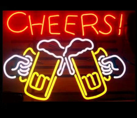 Cheers Draft Beer Neon Bar Sign