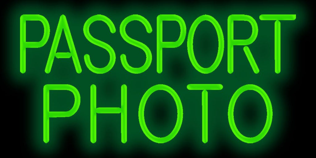 Passport Photo Neon Sign