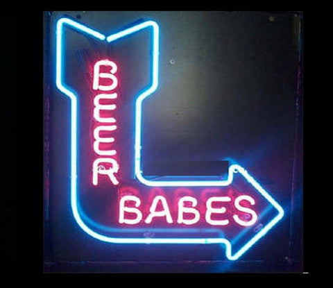 Beer Babes Neon Bar Sign
