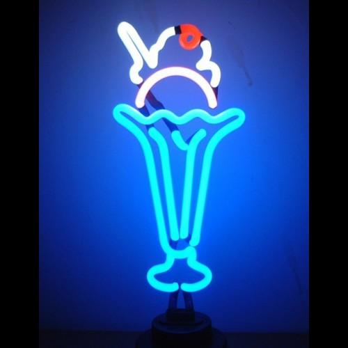 Ice Cream Soda Neon Sculpture