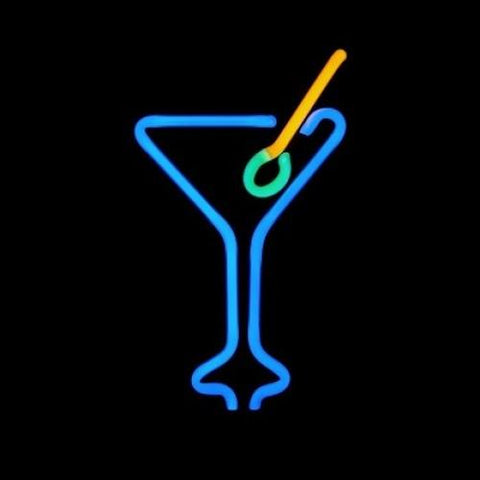 Martini Blue Neon Sculpture