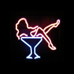 Martini Girl Neon Sculpture