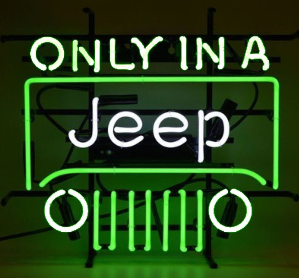 Only In A Jeep Neon Bar Sign