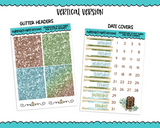 Vertical Adventure is Out There Camping Hiking Outdoor Fall Themed Planner Sticker Kit for Vertical Standard Size Planners or Inserts - Adorably Amy Designs