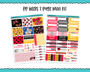 PP Weeks All About That Bow Minnie Inspired Weekly Kit sized for PP Weeks Planner or ANY Vertical Insert