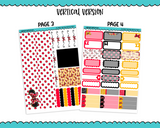 Vertical All About That Bow Mouse Inspired Planner Sticker Kit for Erin Condren, Happy Planner or Any Other Planner