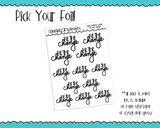 Foiled Hand Lettered Be the Change Positive Motivational Planner Stickers for any Planner or Insert - Adorably Amy Designs