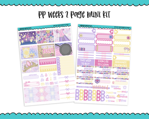 PP Weeks Best Day Ever Movie Princess Themed Weekly Kit sized for PP Weeks Planner or ANY Vertical Insert