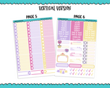Vertical Best Day Ever Movie Princess Themed Planner Sticker Kit for Vertical Standard Size Planners or Inserts - Adorably Amy Designs