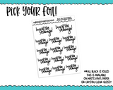 Foiled Hand Lettered Buy All the Things Planner Stickers for any Planner or Insert - Adorably Amy Designs