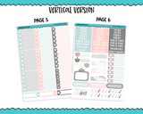 Vertical Cacti Love Pastel Succulents and Cactus Themed Planner Sticker Kit for Vertical Standard Size Planners or Inserts - Adorably Amy Designs