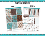 Vertical Sweet n Simple Cafe Latte Planner Sticker Kit for Vertical Standard Size Planners or Inserts - Adorably Amy Designs