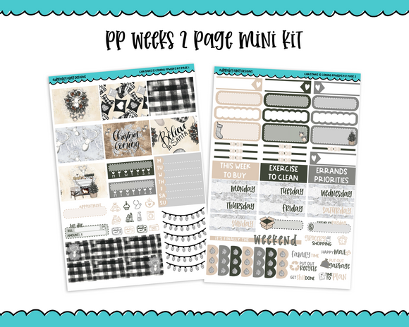 PP Weeks Christmas is Coming Winter Holiday Themed Weekly Kit sized for PP Weeks Planner or ANY Vertical Insert