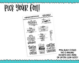 Foiled Typography Coffee Lover V2 Word Art Planner Stickers for any Planner or Insert - Adorably Amy Designs