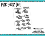 Foiled Hand Lettered Coffee Before Talkie Snarky Planner Stickers for any Planner or Insert - Adorably Amy Designs