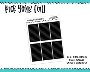 Foiled Cross Out Lines - Headers Planner Stickers for any Planner or Insert