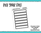Foiled Daily Duo Full Hour Boxes Planner Stickers for Daily Duo or any Daily Planner
