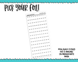 Foiled Daily Duo Weekday Time Strips Planner Stickers for Daily Duo or any Daily Planner