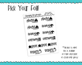 Foiled Florida Mouse Theme Park Reminder Typography Planner Stickers for any Planner or Insert - Adorably Amy Designs